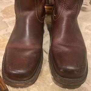 Frye Shoes - Frye Campus Dark Brown Boots